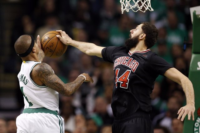 Nikola Mirotic en el Boston Celtics - Chicago Bulls
