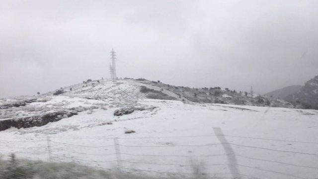 Nieve en el puerto de Castellón