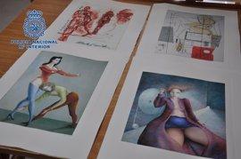 Detenido por vender litografías y grabados falsos de Picasso, Chagall, Tàpies y Barceló
