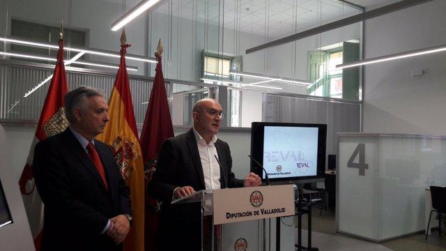 Valladolid. Carnero y Domínguez presentan la nueva oficina de Reval
