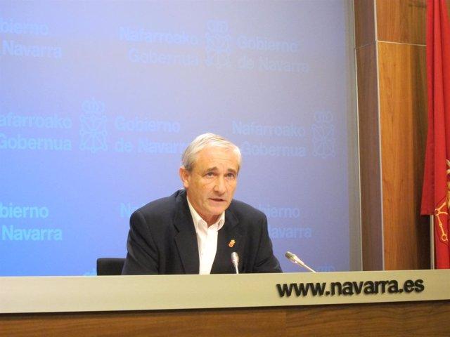 Mikel Aranburu, consejero de Hacienda del Gobierno de Navarra
