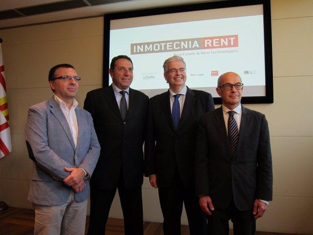 Josep Jorge, Joan Ollé, Jordi Cornet y Hervé Parent, del I Inmotecnia Rent