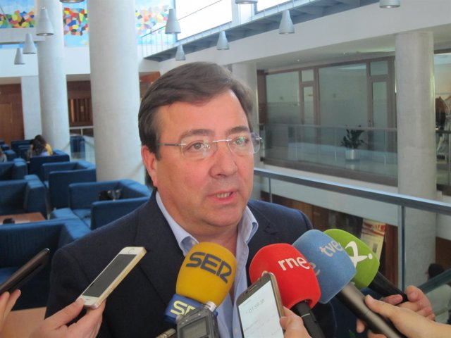 Guillermo Fernández Vara, secretario general del PSOE en Extremadura