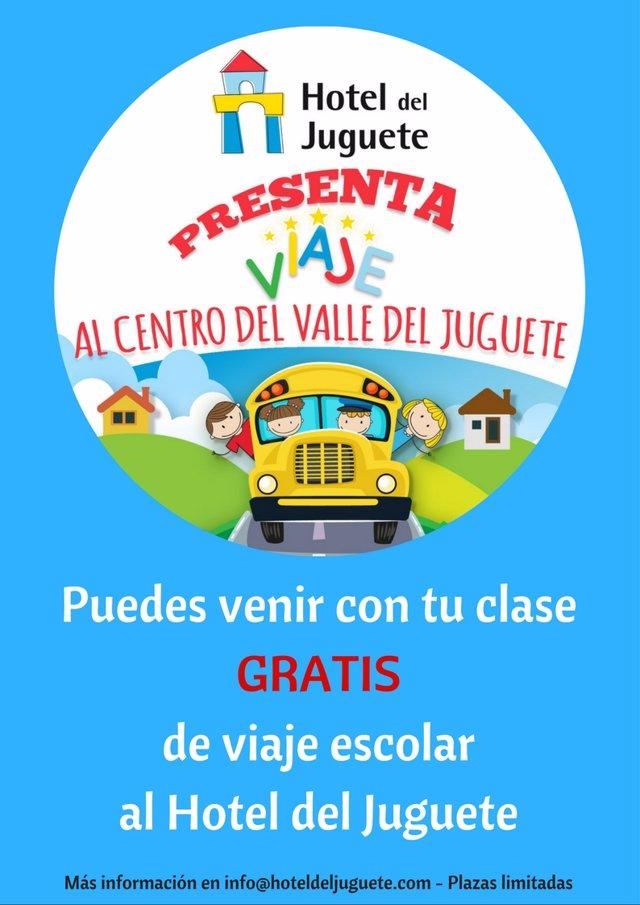Ven con tu colegio al Valle de Juguete