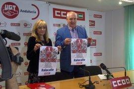 CCOO-A y UGT-A celebrarán en Málaga su manifestación central del 1 de mayo y llaman a la movilización