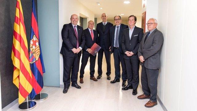 Jordi Moix en la firma del convenio con AEIC y COEIC