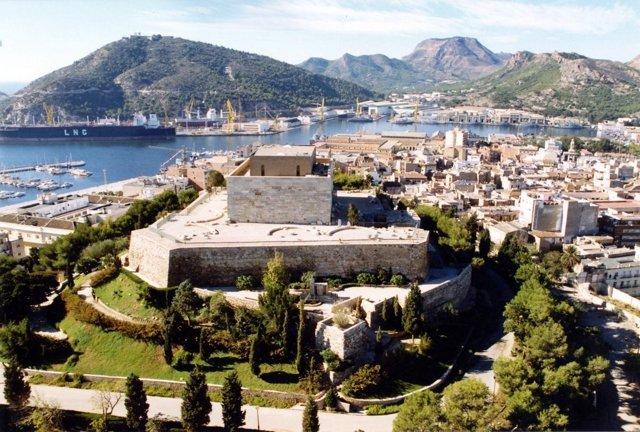 Vistas aereas Cartagena Parque Torres Castillo de la Concepción