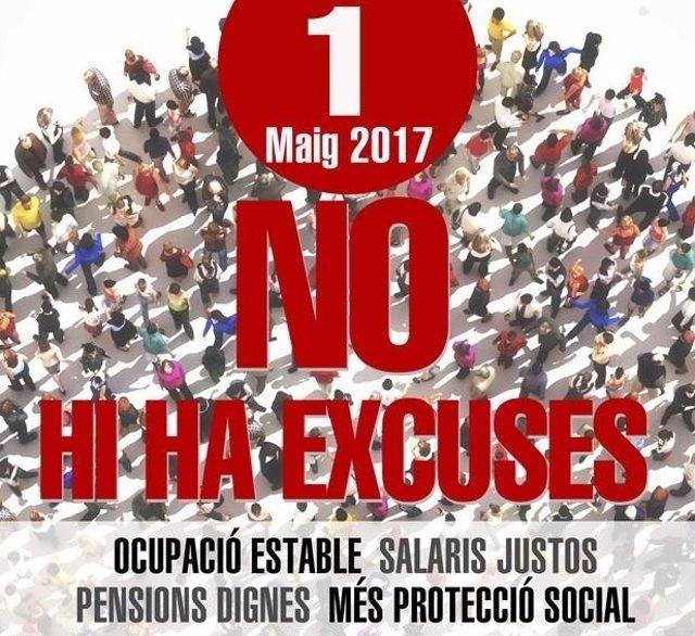 Cartel manifestación 1 de mayo en la Comunitat
