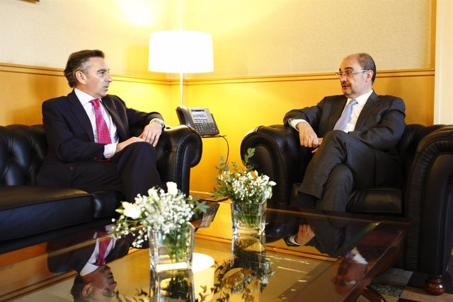 Reunión de Javier Lambán y Luis María Beamonte