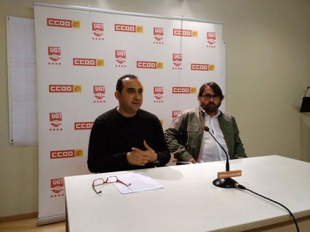 Javier Pacheco y Camil Ros en rueda de prensa por el 1 de mayo