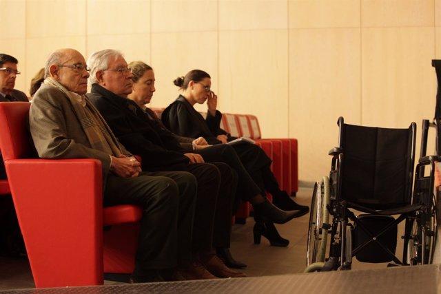 Fèlix Millet, Jordi Montull y Gemma Montull en el juicio del caso Palau