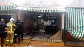 Sofocado un incendio en una caseta de la Feria de Sevilla