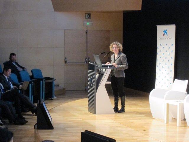 La consellera de Enseñanza Meritxell Ruiz, en un acto sobre FP