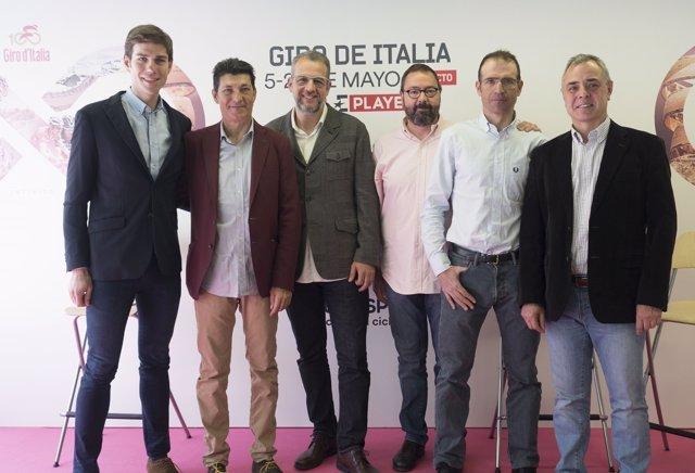 Presentación del Giro en Eurosport