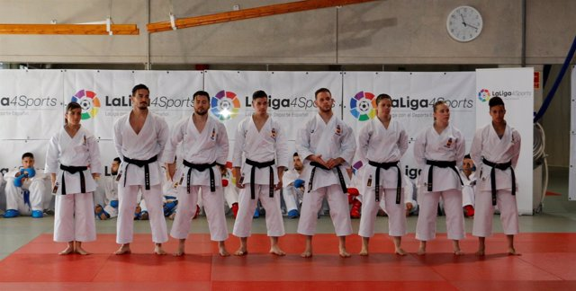 Componentes de la selección española de karate