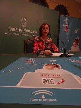 La coordinadora del IAM, Ana Díaz, en la presentación de la campaña