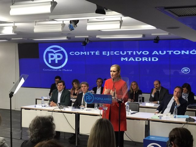 Cifuentes en el Comité Ejecutivo del PP de Madrid