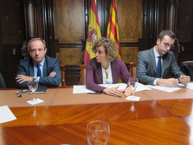 El secr.Gral de Sanidad, José Javier Castrodeza y la ministra Dolors Montserrat