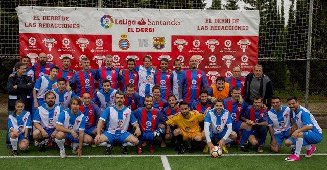 El RCD Espanyol supera al FC Barcelona en el Derbi de las Redacciones de LaLiga