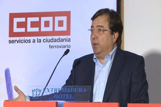 Vara recalca la importancia del tren para Extremadura