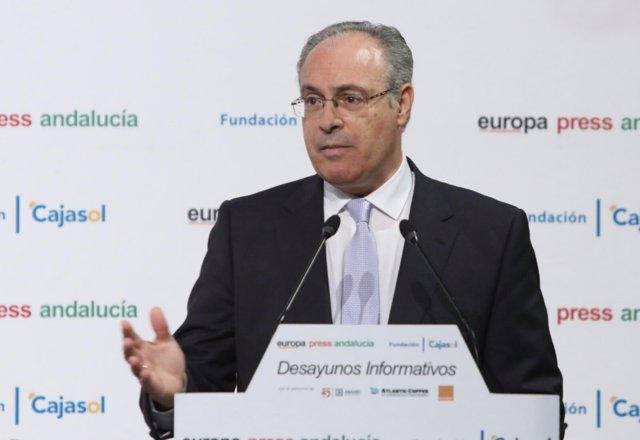 El presidente del Parlamento, Juan Pablo Durán, en los Desayunos de Europa Press