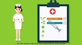 """El Coiba pide retirar la campaña de Sanidad sobre vacunación por la imagen """"sexista"""" de la enfermera"""
