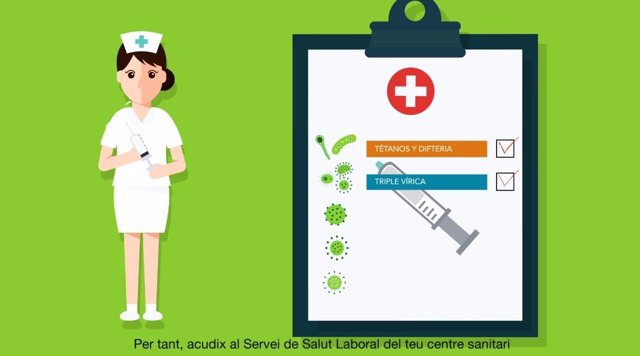 Fotograma del vídeo de la campaña de vacunación del Ministerio de Sanidad