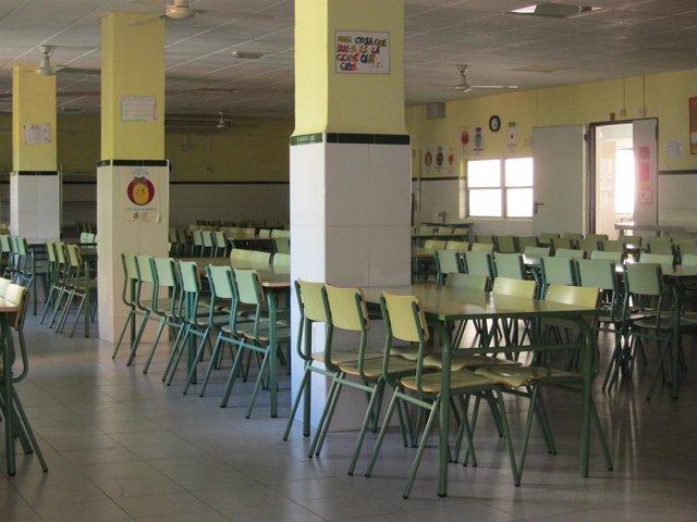 Comedor escolar, colegio.