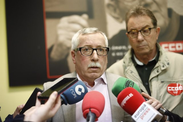 Ignacio Fernández Toxo en la Asamblea de Delegados de CCOO Madrid