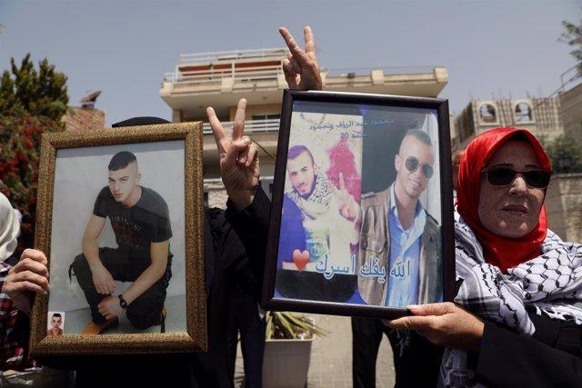 Protestas por huelga de hambre de presos palestinos