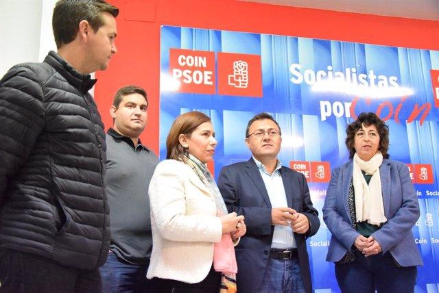 Heredia PSOE en agrupación Coin psoe