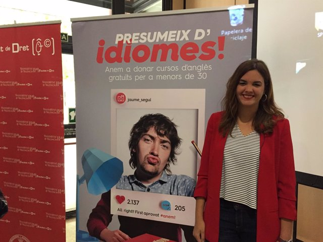 Sandra Gómez en la presntación de la iniciativa