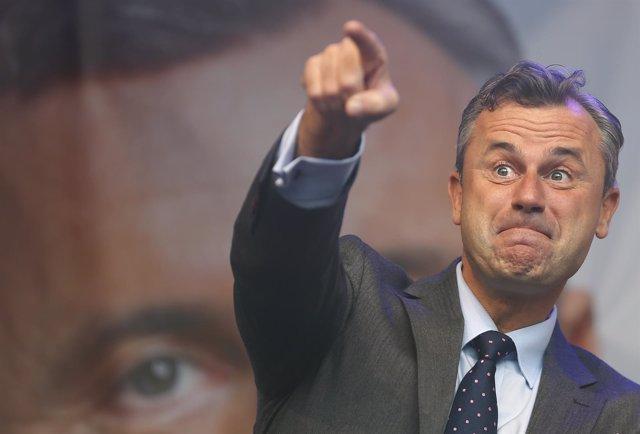 El candidato presidencial ultraderechista, Norbert Hofer