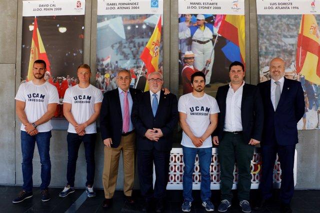 Saúl Craviotto, Paco Cubelos, Marcus Cooper Walz, David Cal,Alejando Blanco UCAM