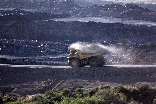 Actividad en una mina de El Bierzo (León).