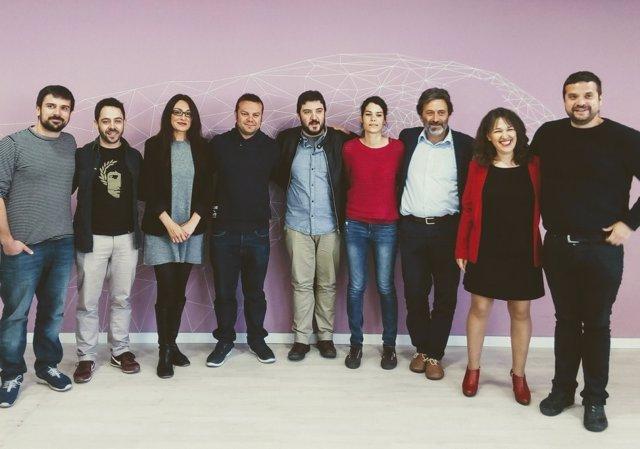 Dirigentes de Podemos e IU Madrid
