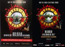 Agotadas las entradas de pista para el concierto de Guns n' Roses en Bilbao, aunque quedan disponibles de grada