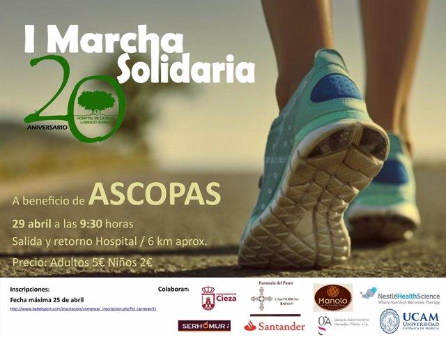 Imagen del cartel anunciador de la marcha solidaria