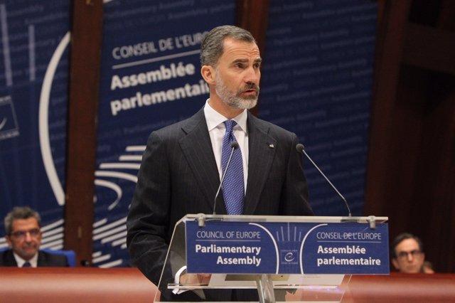 El Rey, en la Asamblea Parlamentaria del Consejo de Europa