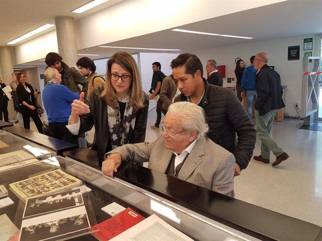 Oriol Bohigas, en la presentación de la biblioteca de la Etsab