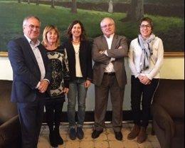 Reunión de representantes de cultura de gobiernos catalán, balear y valenciano