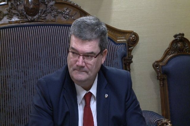 El alcalde de Bilbao, Juan Mari Aburto