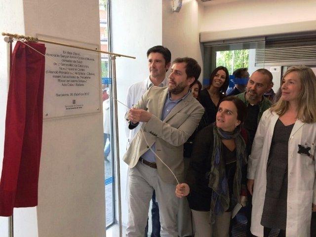 El conseller de Salud, Toni Comín, inaugura el CAP Vila de Gràcia-Cibeles