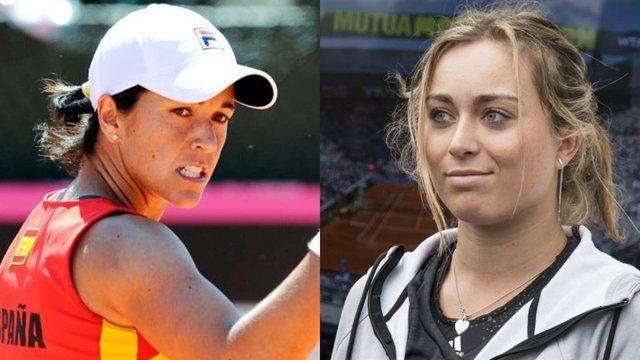 Las tenistas españolas Silvia Soler y Paula Badosa