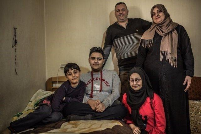 Refugiados sirios en Italia como parte de un programa de Oxfam