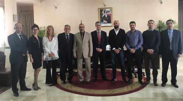Reunión con el alcalde de Tanger