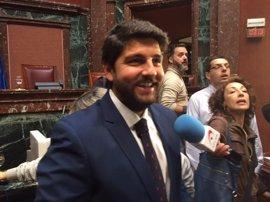 Fernando López Miras, nuevo presidente de Murcia gracias a la abstención de Ciudadanos