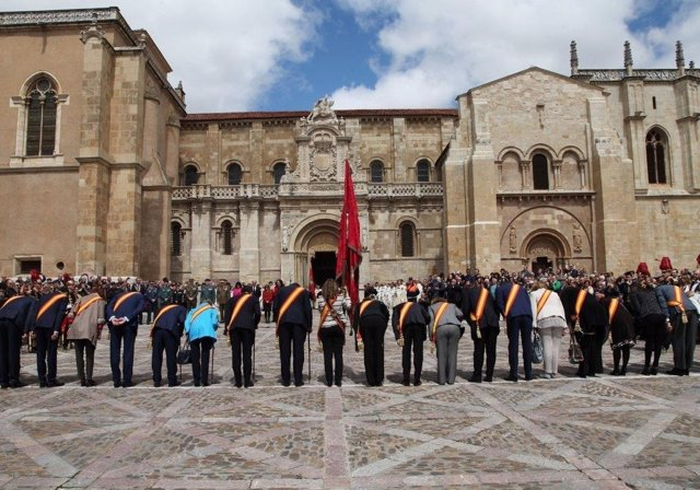 León. Momento de Las Cabezadas en San Isidoro