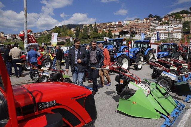 Javier Fernández visita la Feria de Muestras de Tineo