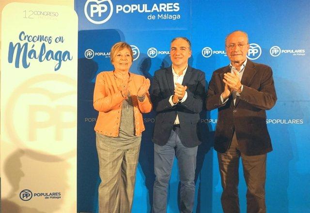 Celia Villalobos, Elías Bendodo y Paco de la Torre PP Málaga partido sucesión